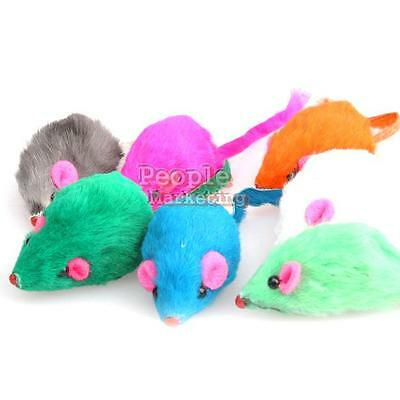 Hot Lovely Cute Fashion Beautiful Bright Coloured Little Mouse Toys For Pets