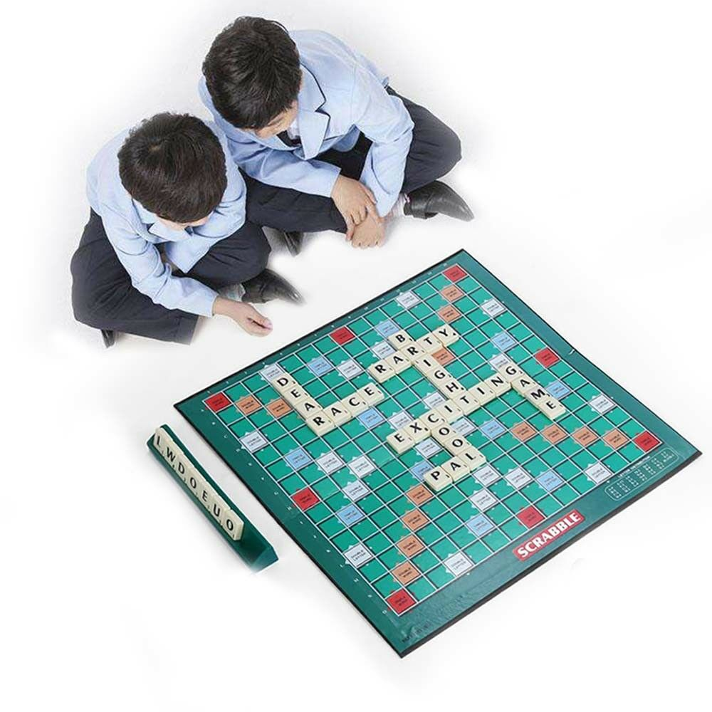 New Original Scrabble Board Game Family Kids Adults Educational Toys Puzzle Game 3