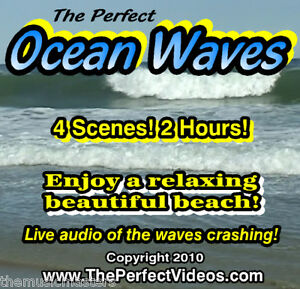 Details about The Perfect Ocean Waves DVD Ambient Water Video Relaxing  Beach Scenes Real Audio