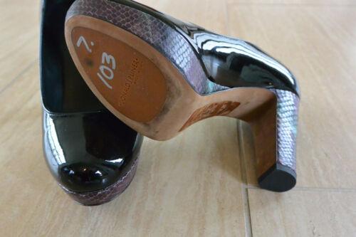 charles Donald Evie talla J gruesos negro 7 tacones Pliner serpiente en Nuevo RgqTnFq