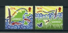Guernsey 2016 MNH Happy Postcrossing 2v Set Birds Fish Butterflies Bees Stamps