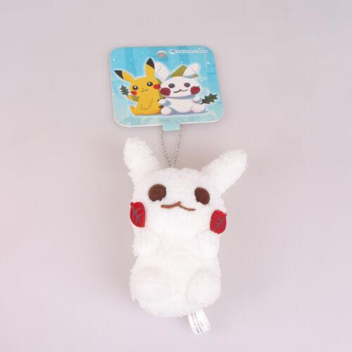 Pokemon Center Winter Hide And Seek Pikachu Snowman Plush Toys Doll Key Chain