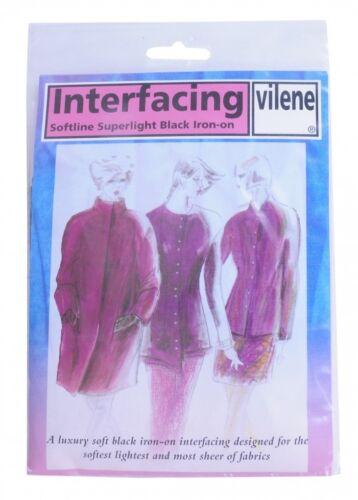 Vilene Iron On Superlight Interfacing Interlining per pack 2V959-M