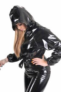 Plastic-Unisex-One-Piece-Suit-With-Hood-PVC-Baggy-Catsuit