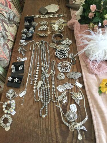 Vintage Silver Jewelry Necklaces Bracelets Broache