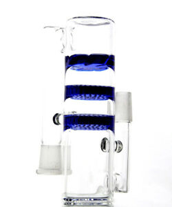 Blue-3-layers-Honeycomb-Bongs-Fits-18mm-Joint-Ash-catcher-with-Triple-Hookahs