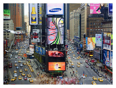 TIMES SQUARE ILLUSTRATED ART POSTER 24x36 NEW YORK CITY NYC 11405