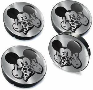 60mm-55mm-Universal-Nabenkappen-Felgendeckel-Nabendeckel-Mickey-Mouse-Maus