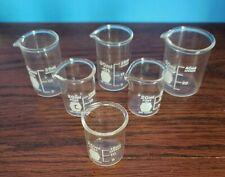 Vintage Kimax Beakers 30 Ml 2 50 Ml 1 Amp 20 Ml 3 6 Glass Beakers