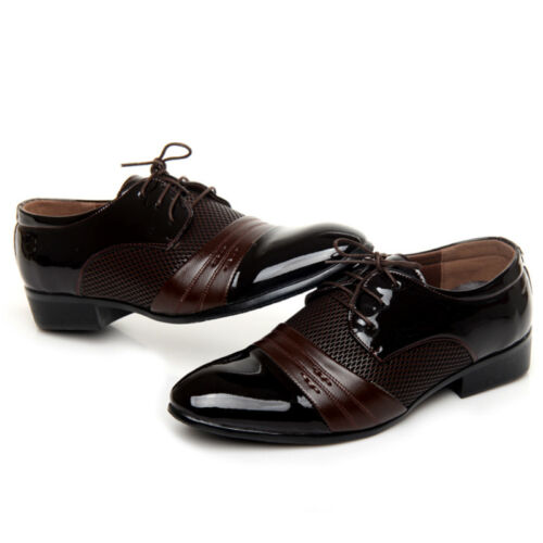 Men/'s Oxfords Leather Shoes Formal Business Dress Casual Pointed Toe Wedding New