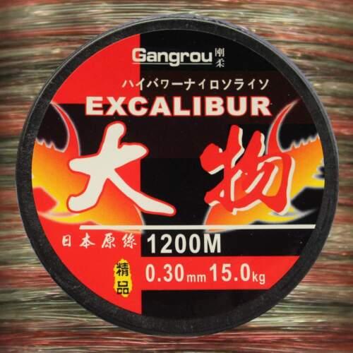 EFT gangrou Excalibur 0,30mm 15kg 1200m mono Line monofilamento angel cuerda