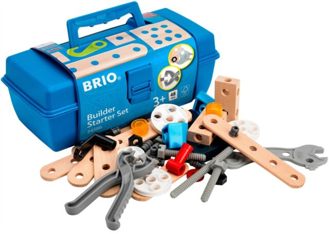 Brio BUILDERS STARTER SET TOOL BOX 48 Pieces Wooden/Plastic Activity Toy BN