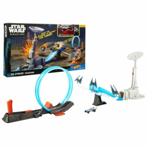 New Star Wars Rouge One Tie Striker Takedown Hot Wheels Track /& Vehicle Official