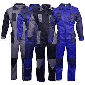 Men-039-s-Coveralls-Boiler-Suit-Overalls-For-Warehouse-Garages-Workers-Mechanics
