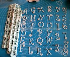 Alphabet Number Letter Cutter Cake Cookie Pastry Embossed Stamp Tool Mold S2