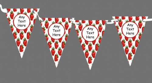 Strawberry Personalised Carnival Fete Street Party Bunting