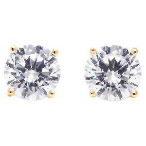 1-75-Ct-Round-Earrings-Studs-Real-14K-Yellow-Gold-Brilliant-Basket-Screw-Back