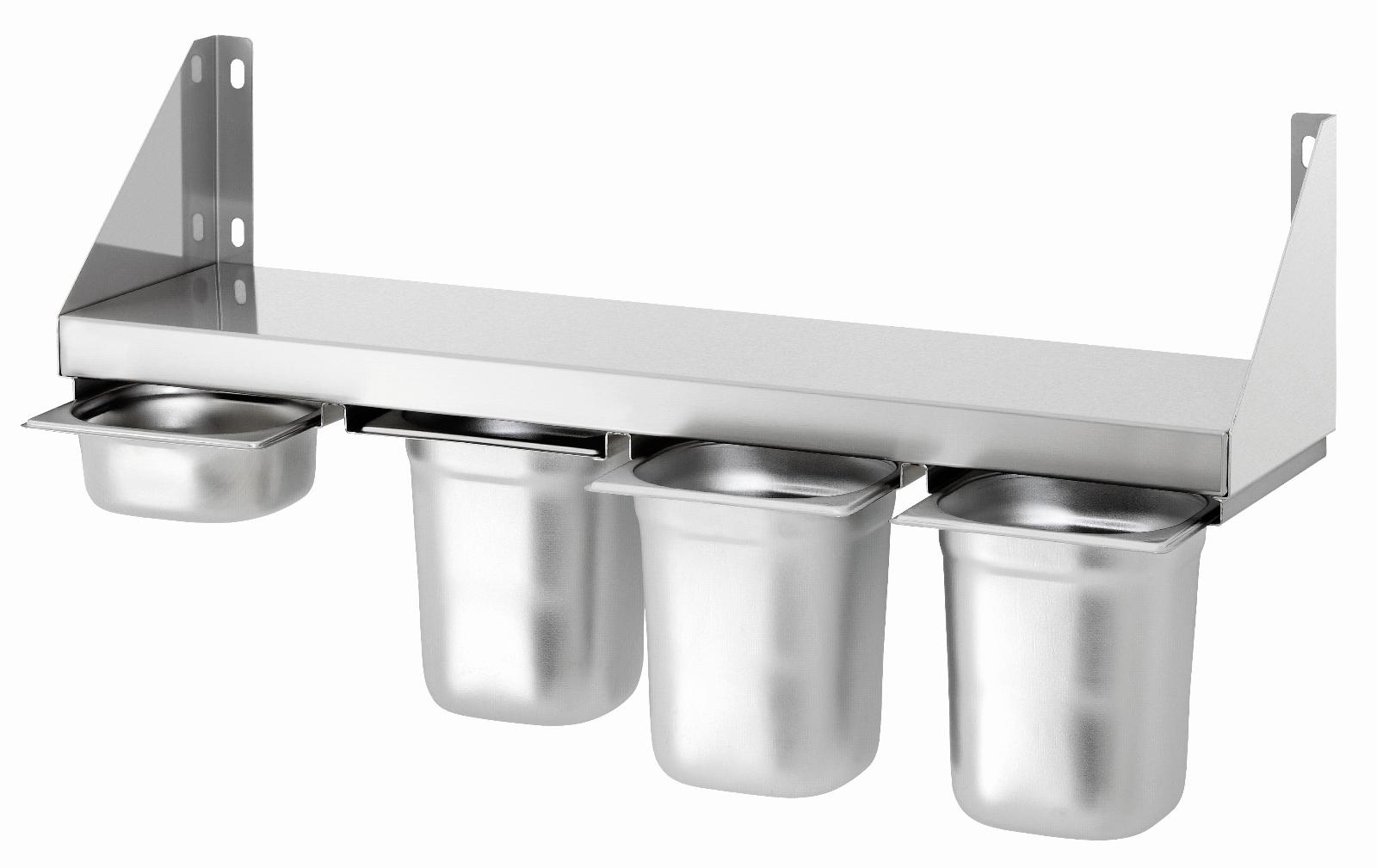 Bartscher Gewürzbord mit 4 Behälter,Edelstahlablage,Gatronomiebord,Küchenablage Behälter,Edelstahlablage,Gatronomiebord,Küchenablage Behälter,Edelstahlablage,Gatronomiebord,Küchenablage e2325f