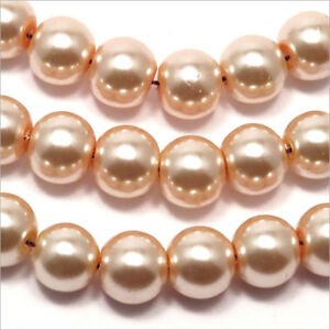 20 perles Nacrées 10mm Rose Saumon verre de Bohème UnwdTBeC-09095006-961720857