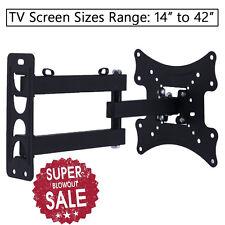 """Full Motion Tilt & Swivel LEC LCD TV Wall Mount Bracket 26 27 32 36 37 40 42"""""""