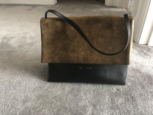 Bag Soft All Shoulder Celine nbsp;suede Khaki amp;beige tYqT1