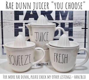 RAE-DUNN-Juicer-SQUEEZE-JUICE-FRESH-034-YOU-CHOOSE-034-Ceramic-HTF-NEW-RARE-18-19-034