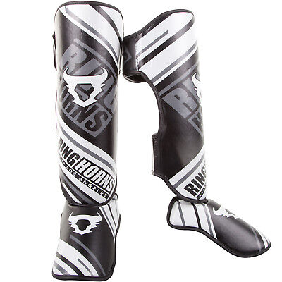 AQF MMA Shin Guards Instep Protective Leg Pads Muay Thai Gear High Density Foam Padding Kickboxing Training Protection