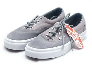 0ab53e7bf1 Image is loading Vans-Era-Monument-Grey-and-True-White-Shoes-