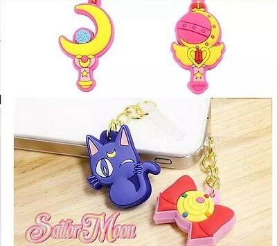 Sailor Moon Anti Dust 3.5mm Ear plug Headphone Cover for iPhone Samsunng C0241