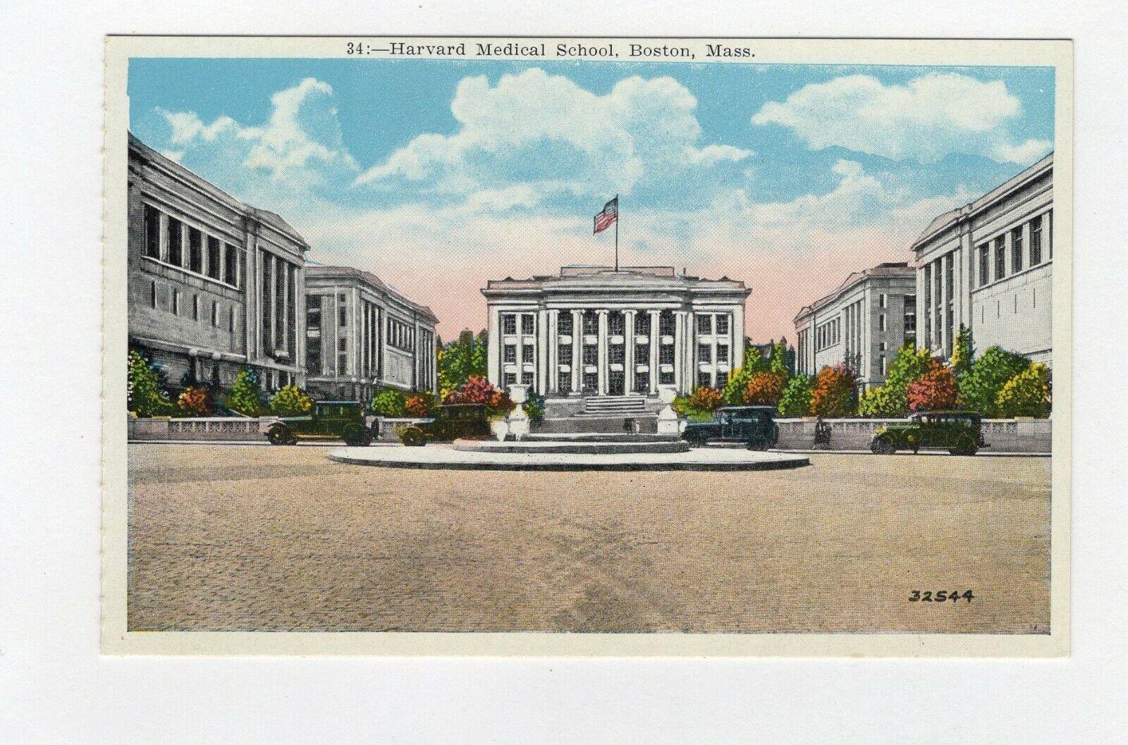Harvard Medical School Boston Massachusetts Vintage Postcard B15 5