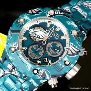 Invicta NFL Reserve Subaqua Specialty Philadelphia Eagles Steel 52mm Watch New