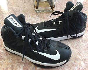 Boy Nike Stutter Step 2 GS Basketball Shoes Black White 653754 001 Various Sizes