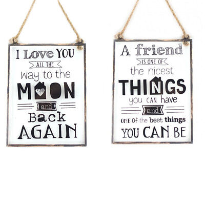 I Love You To The Moon Vintage Wall Plaque Metal Retro Home Decor Sass /& Belle