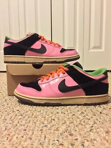 029d81ded0a0 NIKE ID DUNK LOW sz 11 EASTER AIR FORCE 1 SB BLACK PINK MINT RARE ...