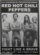 RED HOT CHILI PEPPERS Fight Like A Brave 33 X 23 Inch Black And White POSTER