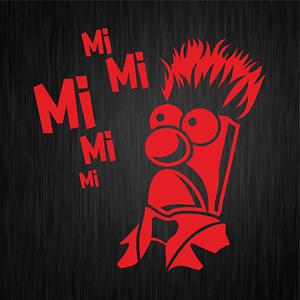 MiMiMi-Mi-Mi-Mi-Mr-Beaker-Comedy-Spass-Fun-Rot-Auto-Vinyl-Decal-Sticker-Aufkleber