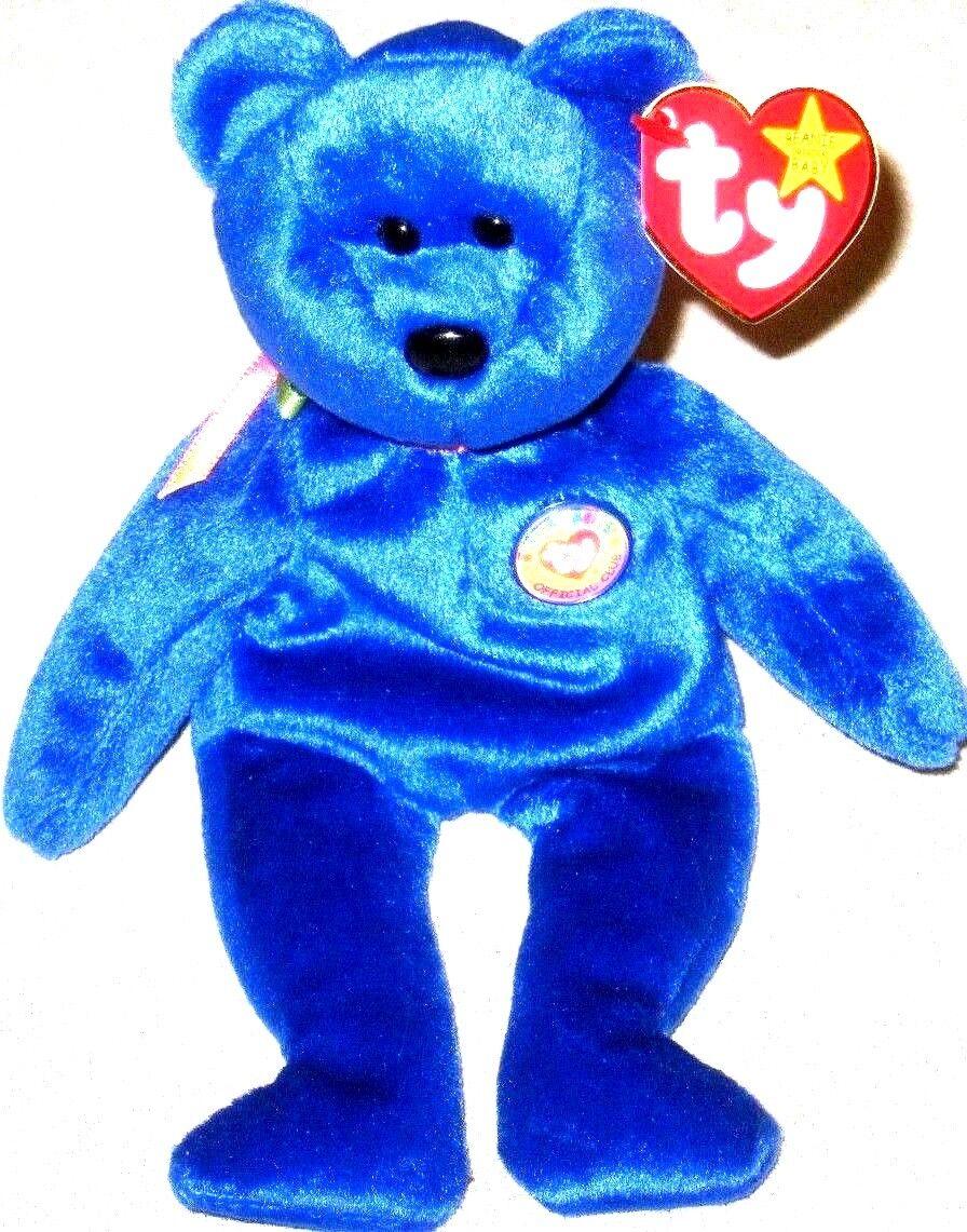 Ty Beanie Baby Original Clubby The Bear P E Pellets Retired 1998