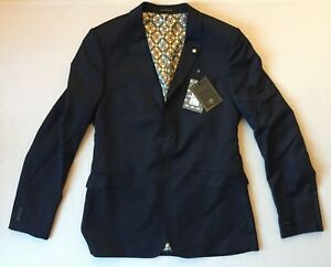 42 Navy Baker Tomjac Jacket Suit Wool Taglia Ted tBx0ZwTqw