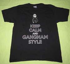Boy Girl KEEP CALM Dance GANGNAM Style SHIRT Sz Youth Large Pop Culture Music