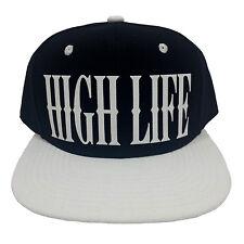 HIGH LIFE BLACK/WHITE (FLOCK) Snapback Cap
