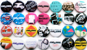 The-Cure-1978-1983-Badge-Set-28-Quality-Pin-Button-Badges-Robert-Smith