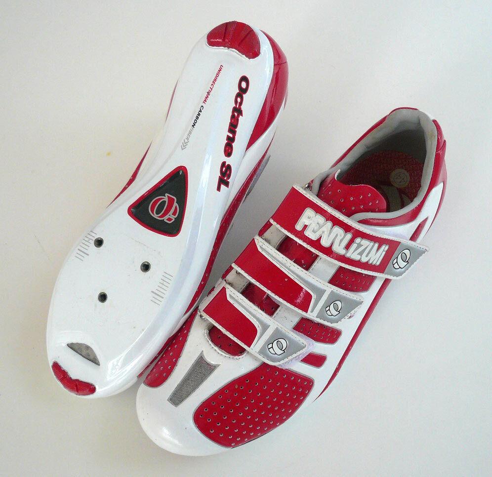 PEARL IZUMI OCTANE SL Rennrad Schuhe ROT-WEISS race Fahrrad-schuhe Gr. 44  249,--