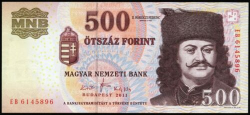 Hungary 500 Forint 2011 banknote Magyar Ungarn UNC