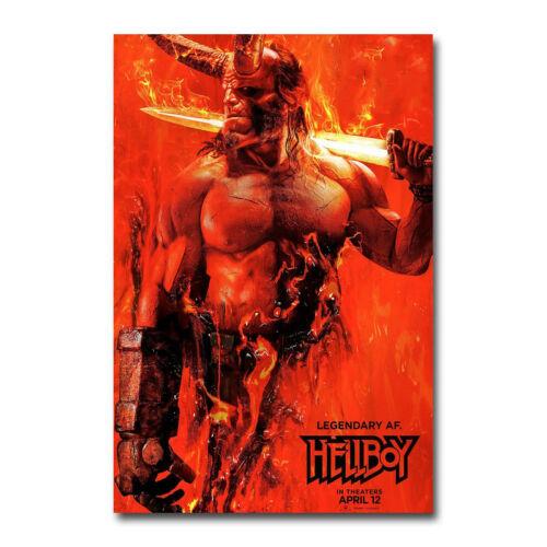Hellboy 2019 Movie Art Silk Canvas Poster 13x20 24x36 inch