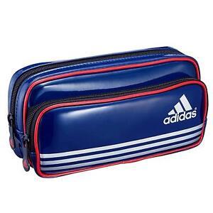 Foto Rápido Mismo  Adidas Esmaltado Doble pluma de bolsillo bolsa bolsa estuche de lápiz de la  pluma azul con seguimiento | eBay