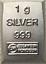 1-Gramm-Barren-Platin-Gold-Silber-Palladium-Geschenk-Wertanlage-Hochzeit Indexbild 14