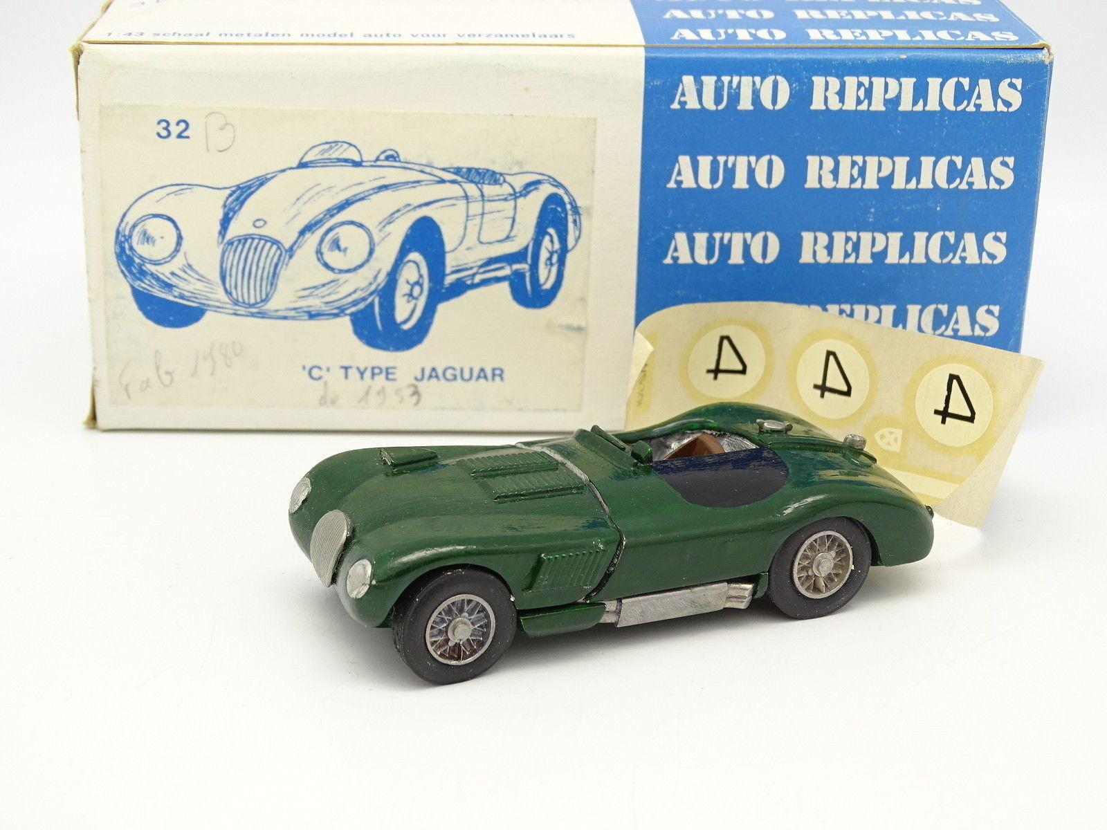 Auto Repliken Set Aufgebaut 1 43 - Jaguar Typ C 1953 N°4