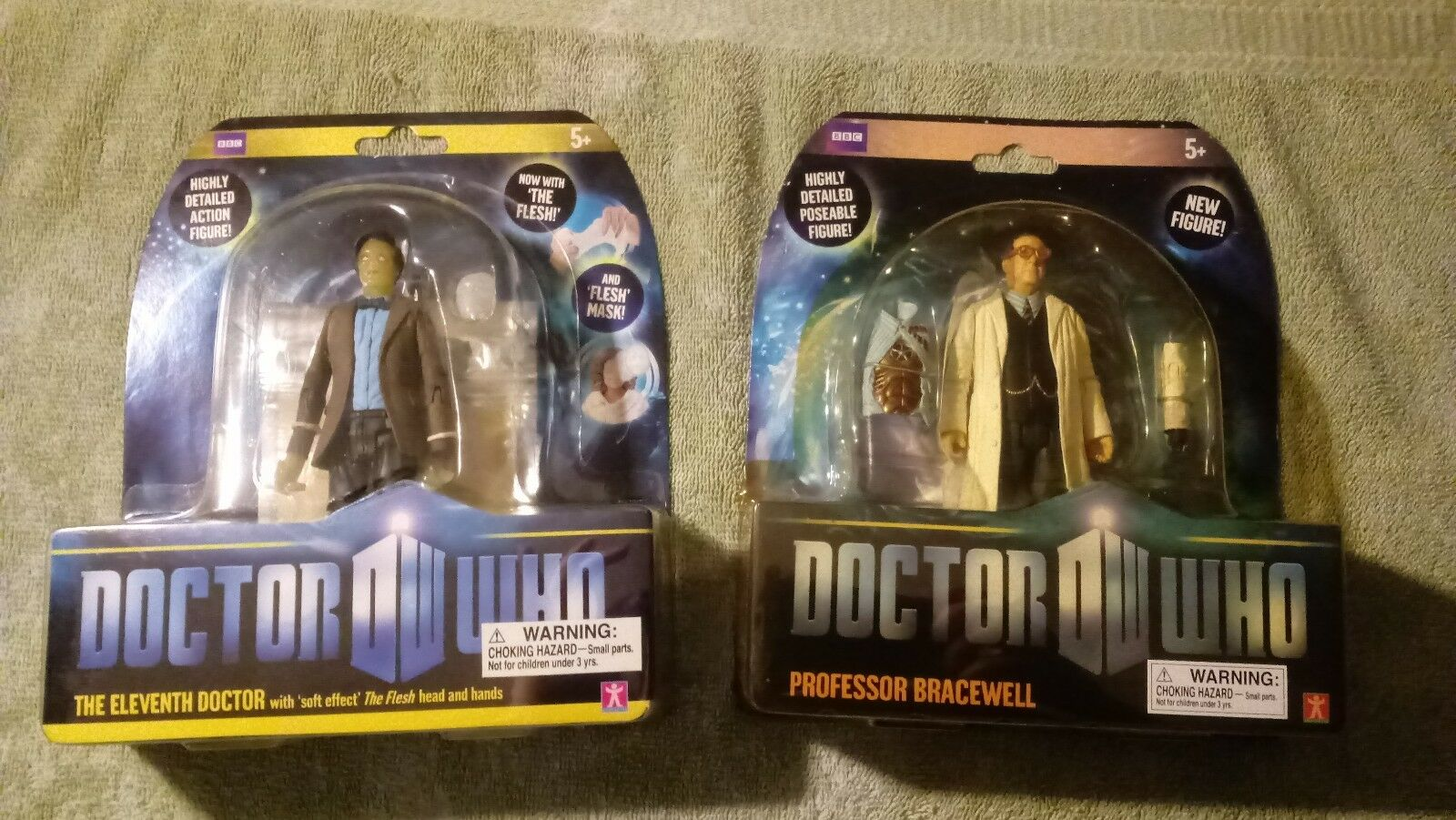 BBC Underground Toys Doctor Who 11th Doctor Flesh & Prof Bracewell AF Lot (New)