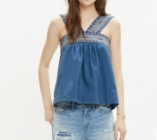 Women's 4 Madewell Siesta Embroidered Chambray Sle