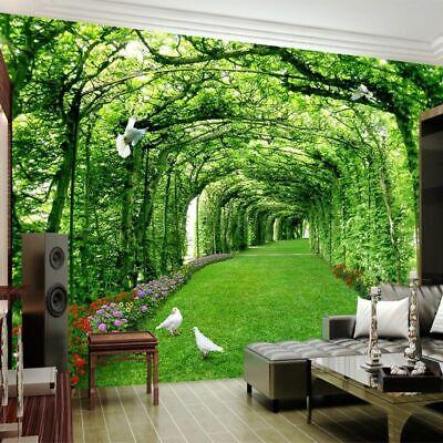 Bedroom Wall Murals 3d Wallpaper Forest Designs Living ...